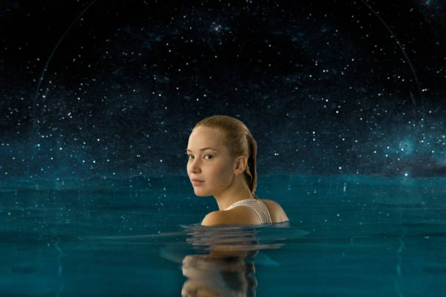 Aurora (Jennifer Lawrence) no filme'Passageiros'