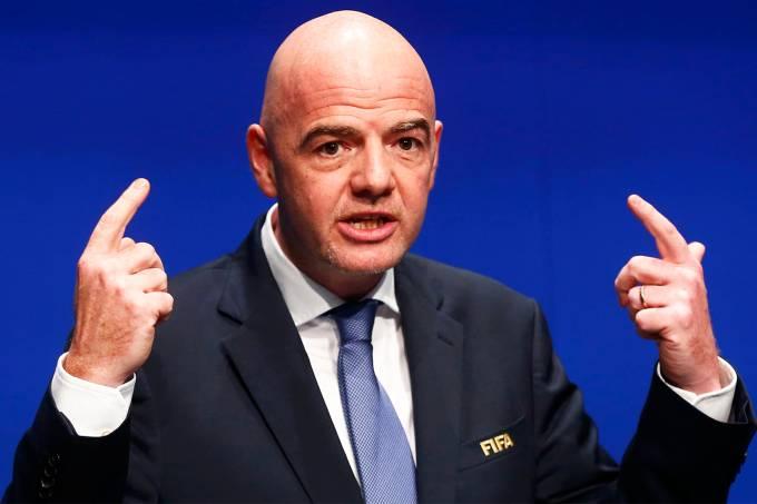 O presidente da FIFA, Gianni Infantino