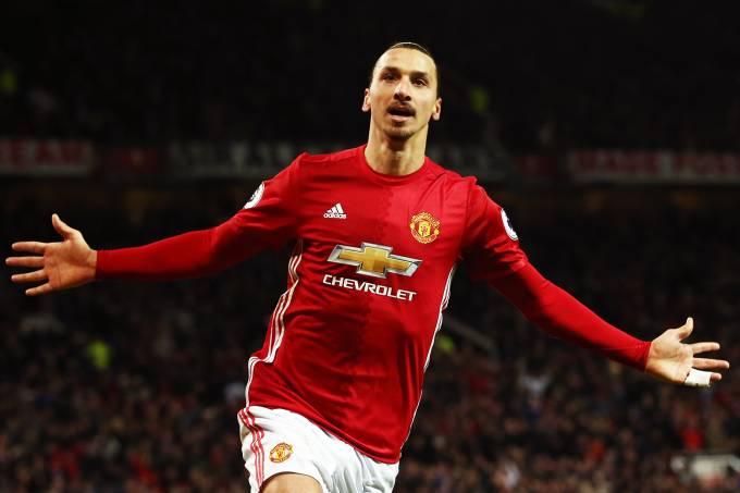 O jogador do Manchester United, Zlatan Ibrahimovic