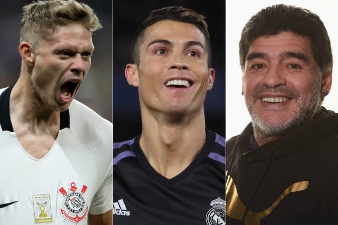 Marlone, Cristiano Ronaldo e Maradona