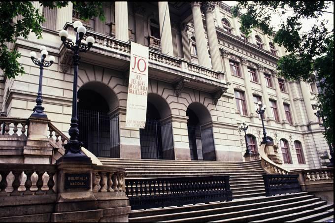 Fachada da Biblioteca Nacional.