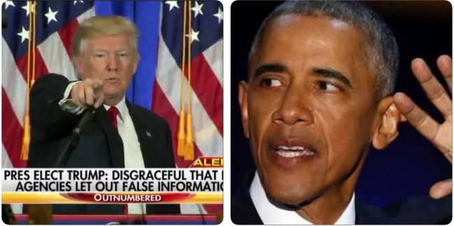 Donald Trump, em sua primeira entrevista coletiva após a eleição; e Barack Obama, em seu discurso de despedida