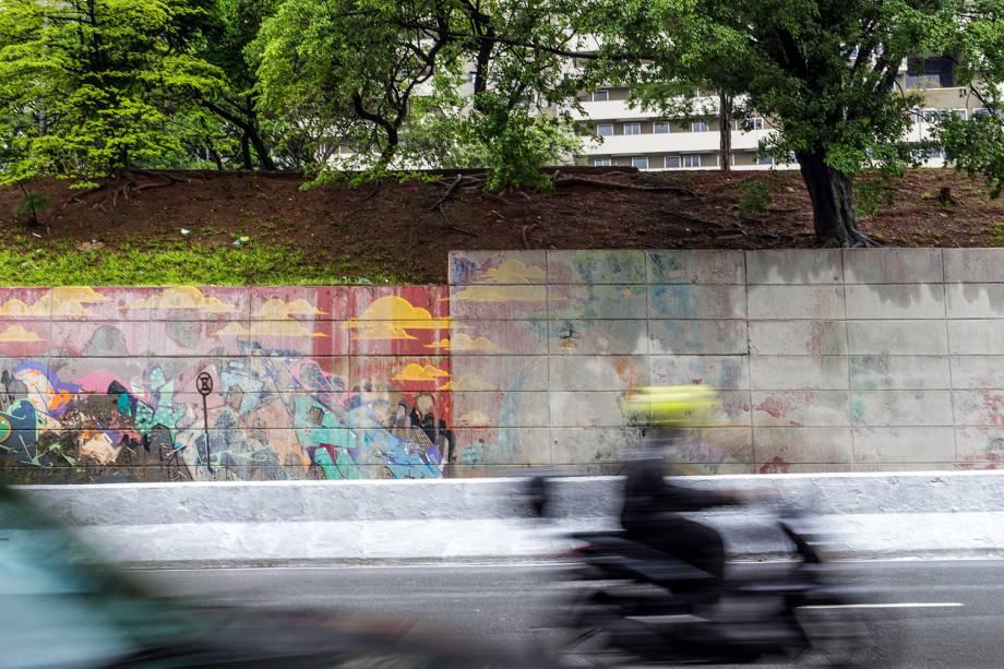 Protesto em defesa do grafite na Avenida 23 de Maio