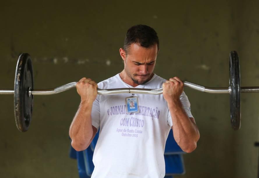 O presídio tem uma academia de ginástica - Foto: Sérgio Dutti
