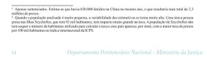 Nota de rodapé do relatório do Infopen de abril de 2016 tenta legitimar recorte que maquia posição do Brasil no ranking de população carcerária