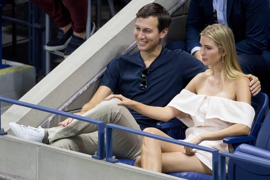 Jared Kushner e sua esposa Ivanka durante torneio de tenis no Queens, em Nova York - 11/09/2016
