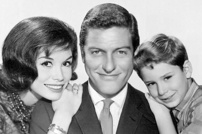 A atriz Mary Tyler Moore no sitcom 'The Dick Van Dyke Show'