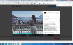 Post da ex-atriz Luma de Oliveira no Instagram no qual ela fez comentários sobre a prisão do ex-marido Eike Batista
