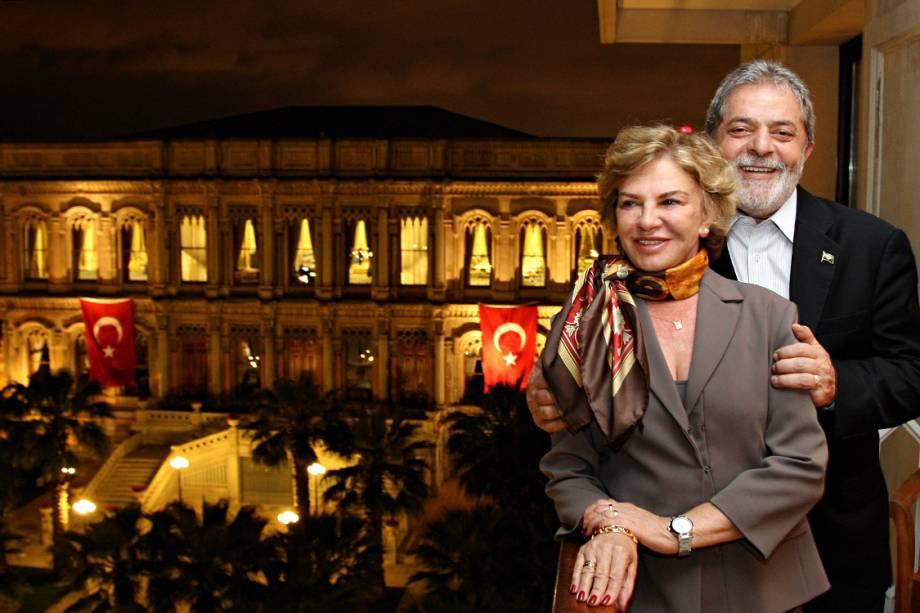 Lula eMarisa Letícia, em 2009, durante visita oficial à Turquia
