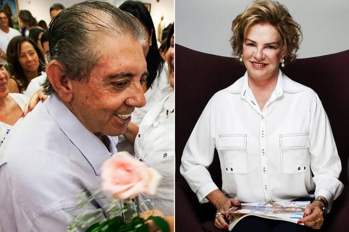 Montagem – o médium João de Deus e Marisa Letícia