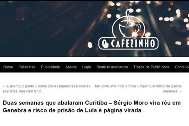 Notícia falsa sobre o juiz Sergio Moro