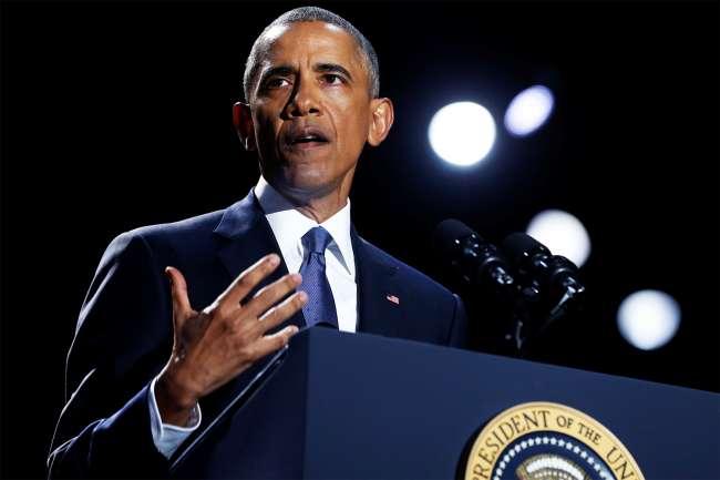 O presidente dos Estados Unidos, Barack Obama, realiza seu último discurso oficial em Chicago - 10/01/2017