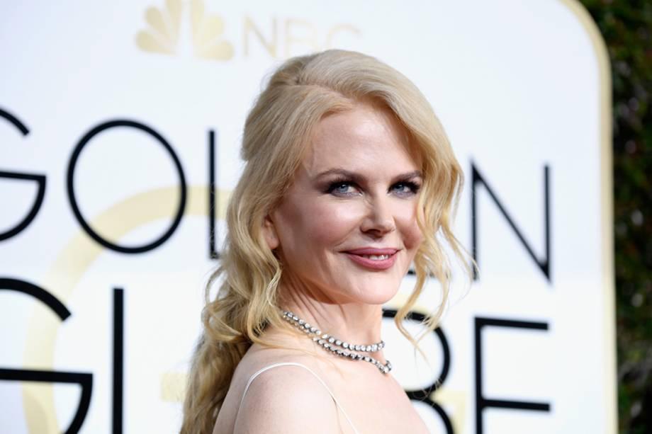 A atriz Nicole Kidman chega para o Globo de Ouro 2017, em Los Angeles