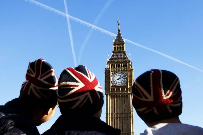 Brexit – O parlamento inglês Westminster em Londres