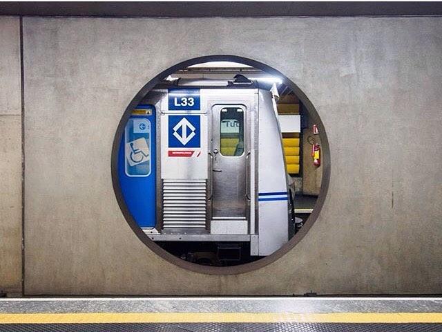 Metrô na estação Tucuruvi