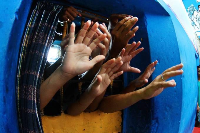 Detentos apontados como integrantes do PCC na cadeia Raimundo Vidal Pessoa, em Manaus – 25/08/2015