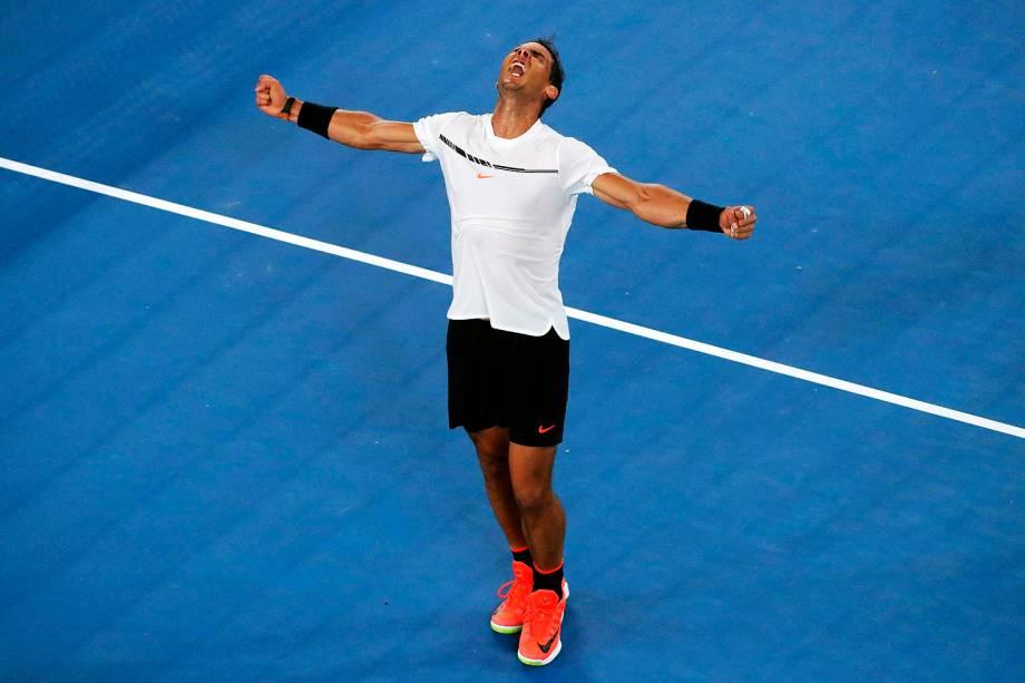 O espanhol Rafael Nadal venceu o francês Gael Monfils e se classificou às quartas de final do Aberto da Austrália - 23/01/2017