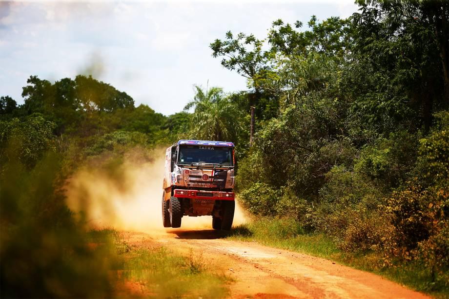 O piloto checo Ales Loprais, dirige caminhão durante o primeiro dia do Rali Dakar 2017 - 02/01/2017
