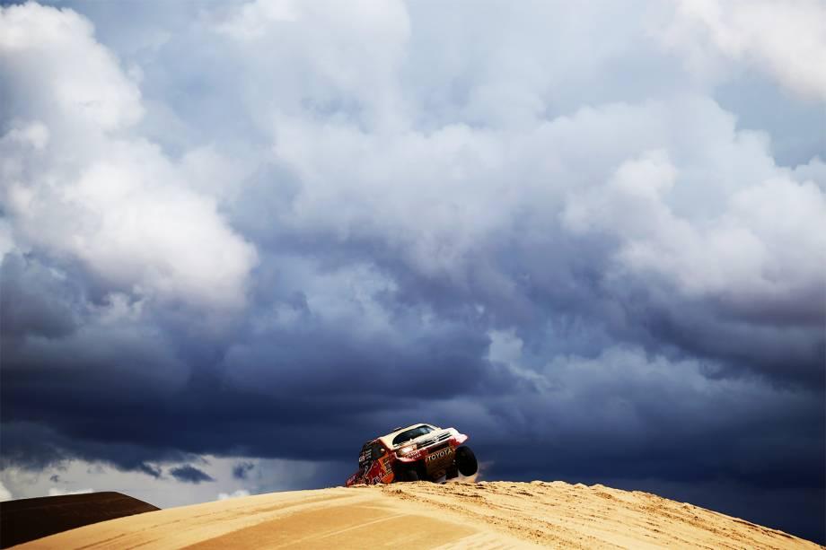 O piloto brasileiro Sylvio Barros, durante o quarto dia do Rali Dakar 2017, entre as cidades de San Salvador de Jujuy, na Argentina e Tupiza, na Bolívia - 05/01/2017