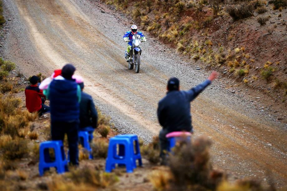 O piloto espanhol Oscar Romero durante o quinto dia do Rali Dakar 2017, entre as cidades bolivianas de Tupiza e Oruro - 06/01/2017