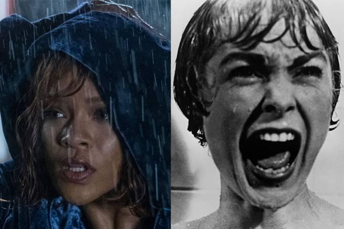 Rihanna e Janet Leigh como Marion – a primeira em 'Bates Motel' e a segunda em 'Psicose'