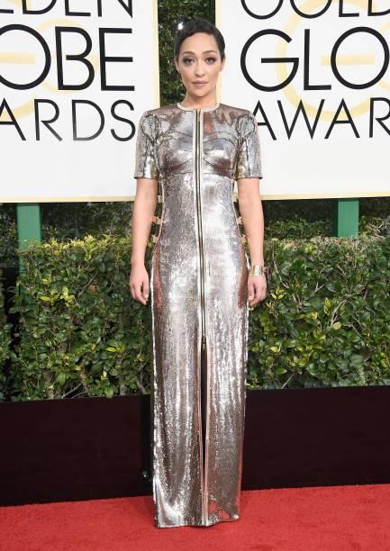 A atriz Ruth Negga chega para o Globo de Ouro 2017, em Los Angeles