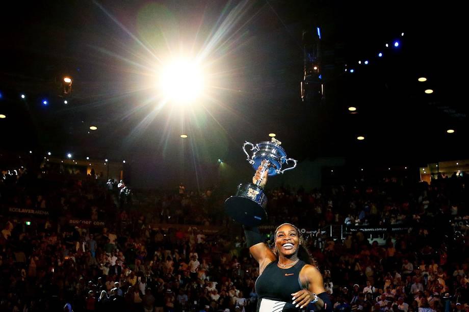 Serena Williams venceu a irmã, Venus, na final do Open da Austrália, conquistando assim o seu 23.º Grand Slam - 28/01/2017