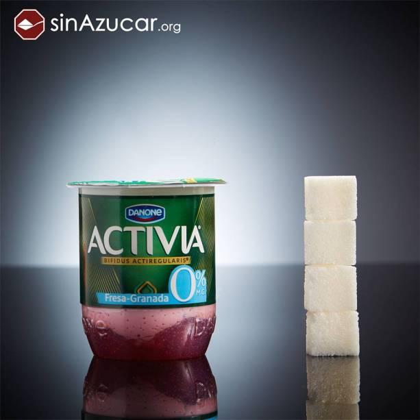 Versão light do Activia, da Danone, possui 16 g de açúcar