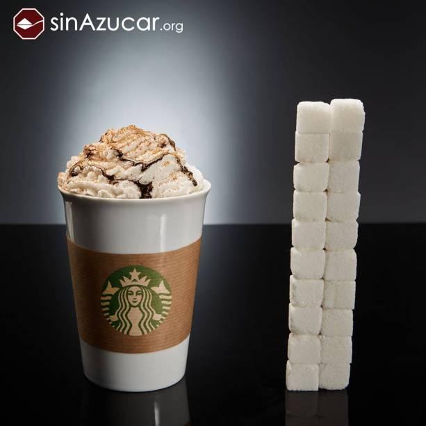Café Mocca com cobertura de chocolate do Starbucks tem 80 g de açúcar