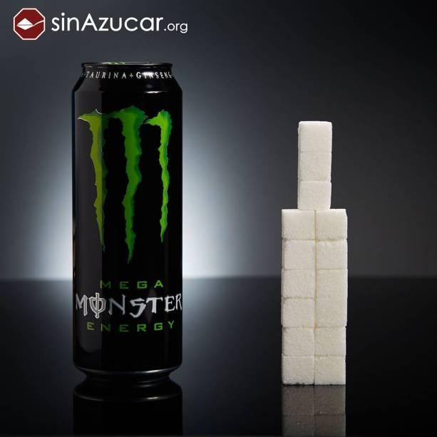 Uma lata do energético Monster (553ml) tem 60 g de açúcar