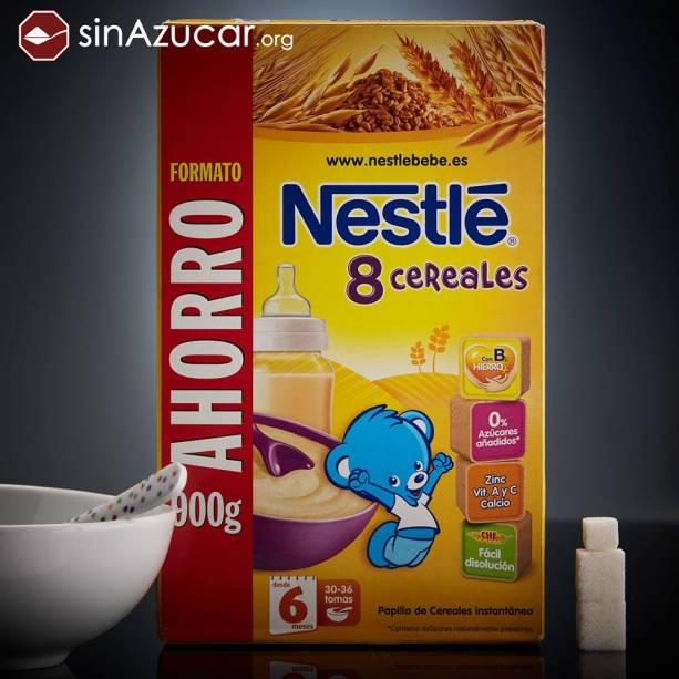 35g da papinha da Nestlé tem 9,2g de açúcar