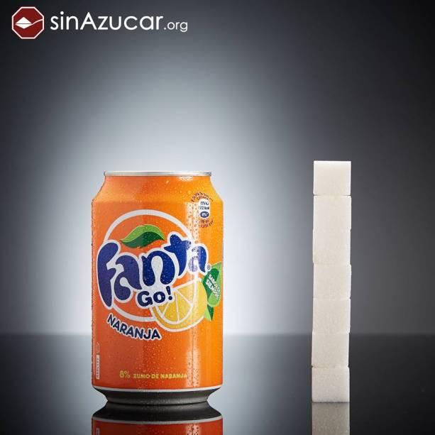 Uma lata de Fanta tem 28g de açúcar
