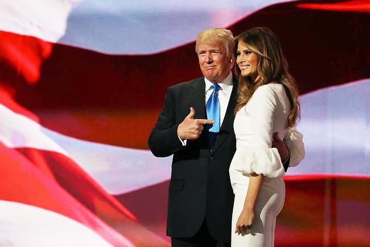<span>Melania Trump, esposa do candidato republicano Donald Trump durante Convenção Republicana - 17/07/2016</span>