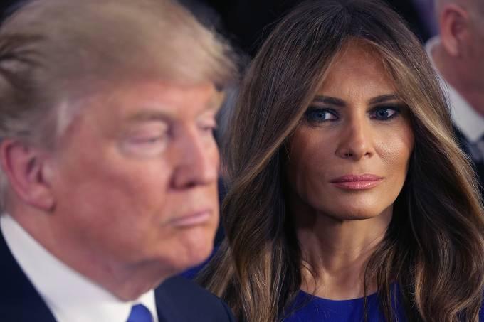 O presidente eleito Donald Trump e sua esposa, Melania Trump -03/03/2016