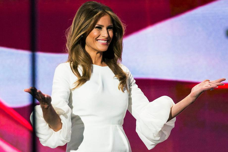 Melania Trump, esposa do candidato republicano Donald Trump durante Convenção Republicana - 17/07/2016