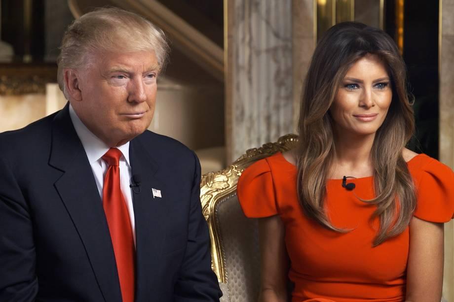 O presidente eleito Donald Trump e sua esposa, Melania Trump - 11/11/2016