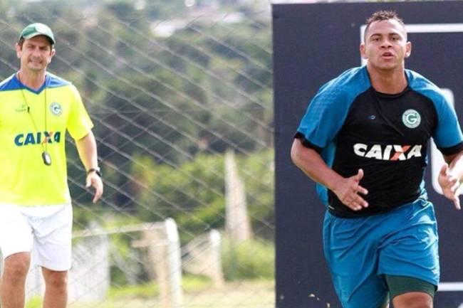Walter durante os treinamentos do Goiás em janeiro de 2017