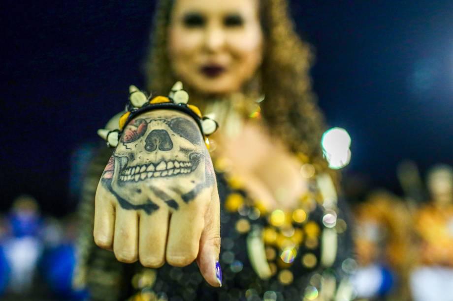 Ensaio técnico da Acadêmicos do Tatuapé para o Carnaval 2017, no Sambódromo do Anhembi, em São Paulo
