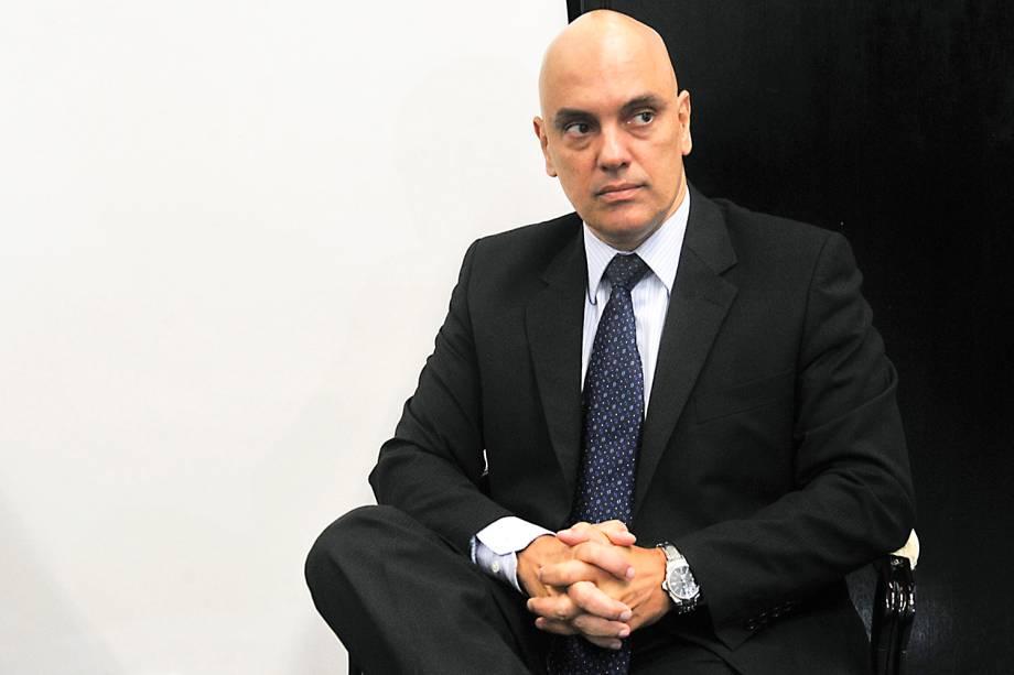 Alexandre de Moraes, indicado pelo presidente Michel Temer para ocupar o vaga de Teori Zavascki no STF, visita o líder do PMDB no Senado, senador Renan Calheiros (PMDB-AL) - 08/02/2017