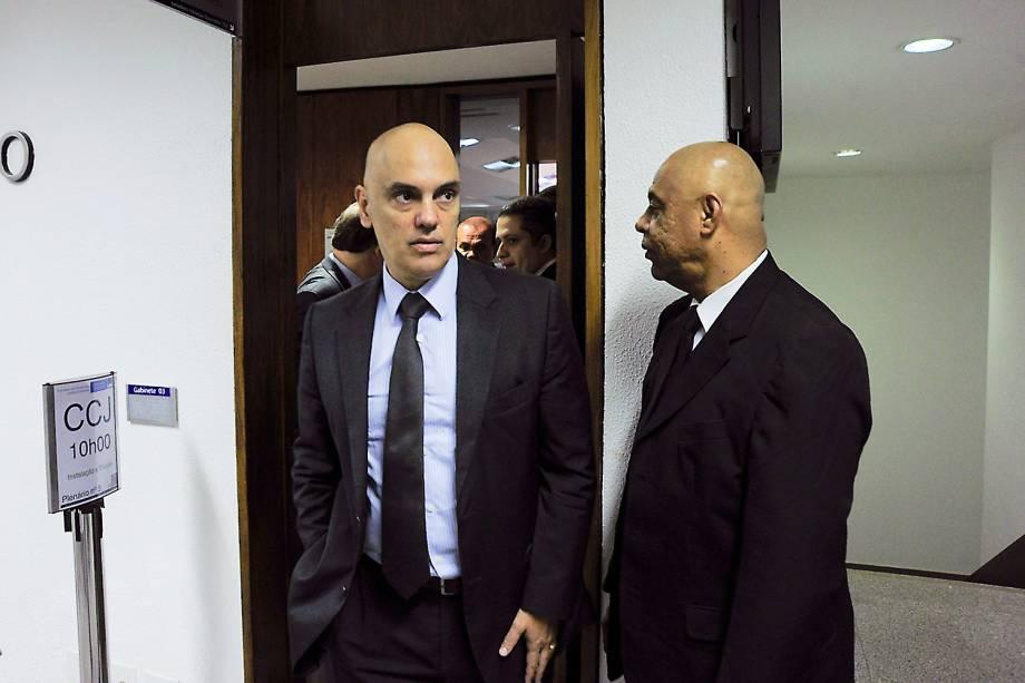 Alexandre de Moraes, indicado pelo presidente Michel Temer para ocupar o lugar de Teori Zavascki no STF, visita o senador Randolfe Rodrigues (Rede-AP) - 09/02/2017