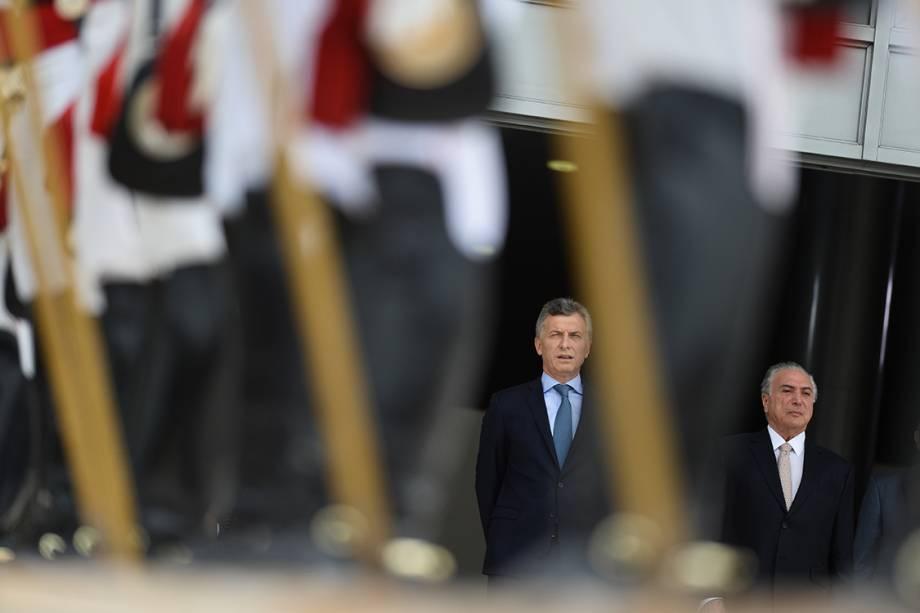 Presidente da Argentina, Mauricio Macri, visita o Brasil e se reúne com Michel Temer no Palácio do Planalto, em Brasília - 07/02/2017