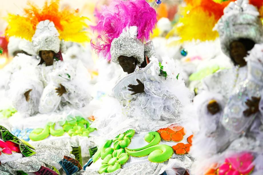 Campeã da Série A do Carnaval de 2016, a escola Paraíso do Tuiuti abre o Carnaval carioca na Marquês de Sapucaí - 26/02/2017