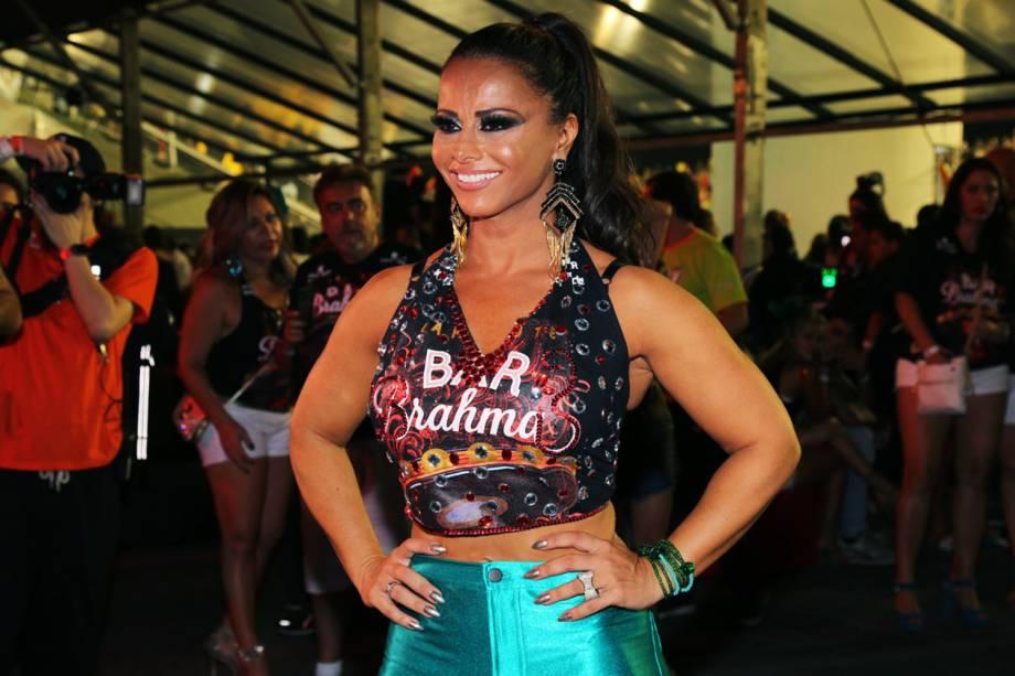 Viviane Araújo posa para foto em camarote no Sambódromo do Anhembi, em São Paulo (SP) - 26/02/2017