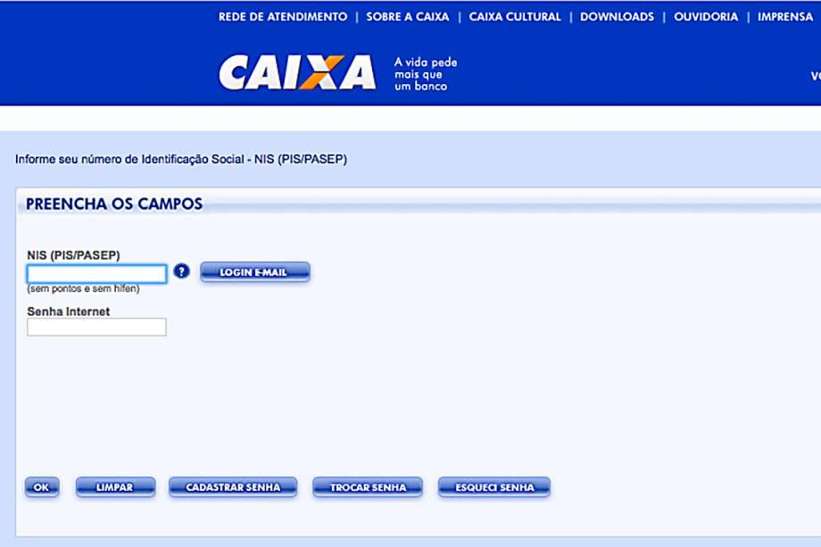"""Quem esqueceu a senha deve cadastrar uma nova na <a href=""""https://servicossociais.caixa.gov.br/internet.do?segmento=CIDADAO01&produto=FGTS"""">página da Caixa</a>"""