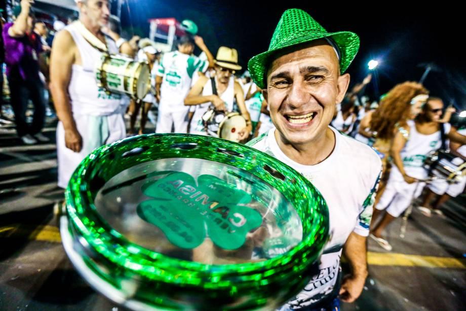 Ensaio técnico da Camisa Verde e Branco para o Carnaval 2017, no Sambódromo do Anhembi, em São Paulo