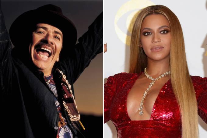 Carlos Santana e Beyoncé