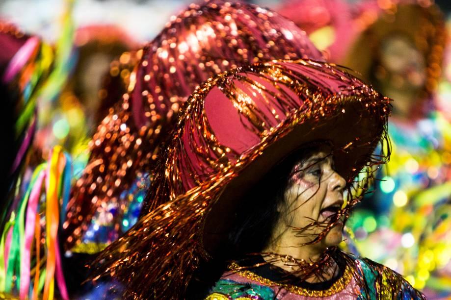 Com o enredo 'Dragões canta Asa Branca', a escola de samba Dragões da Real desfila no Sambódromo do Anhembi, em São Paulo - 26/02/2017