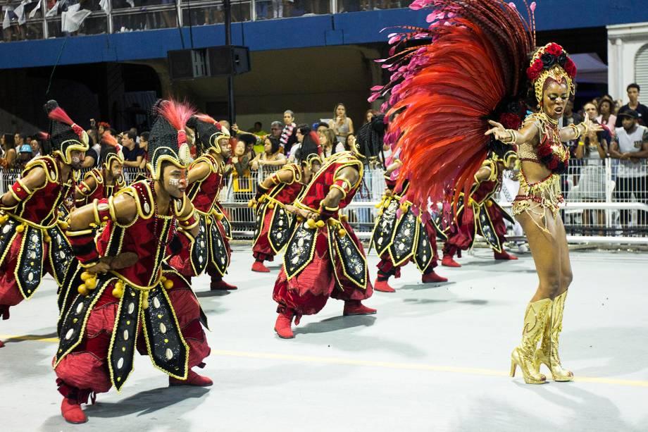 Desfile da escola de samba Vai-Vai, no Sambódromo do Anhembi, em São Paulo (SP) - 26/02/2017
