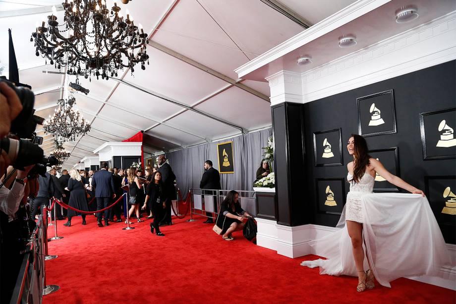 Convidados chegam para a cerimônia da 59ª edição do Grammy no Staples Center, em Los Angeles, nos Estados Unidos - 12/02/2017
