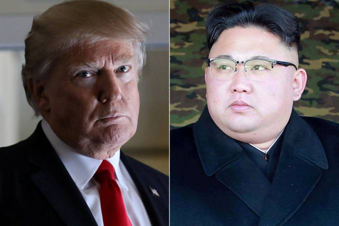 Donald Trump e Kim Jong-Un, ditador da Coreia do Norte